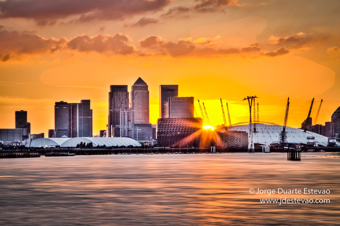 Pôr-do-sol Canary Wharf