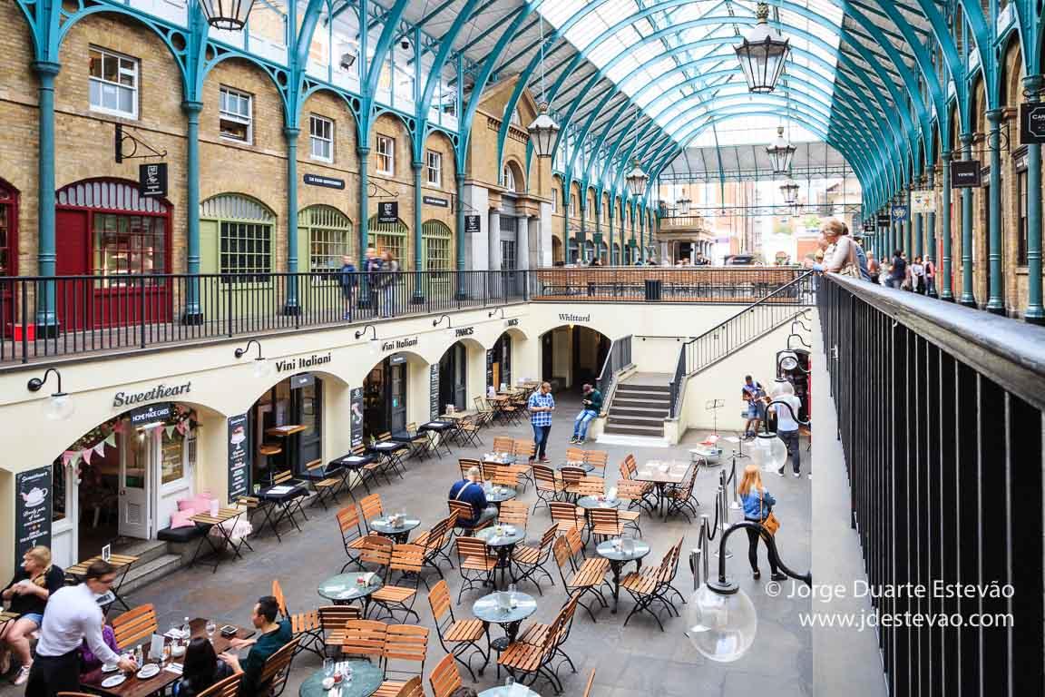 Covent Garden, um dos mercados em Londres com mais visitantes