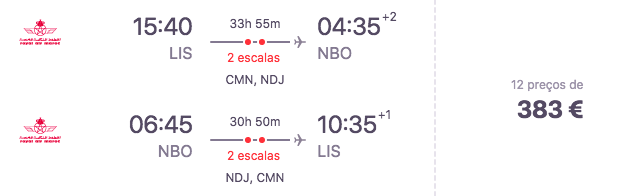 Voo Lisboa - Nairobi