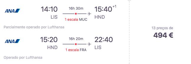 Voos Lisboa - Japão