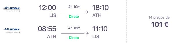 Voo Lisboa - Atenas