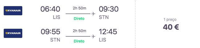Voo Lisboa - Londres