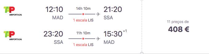 Voos para Salvador Bahia