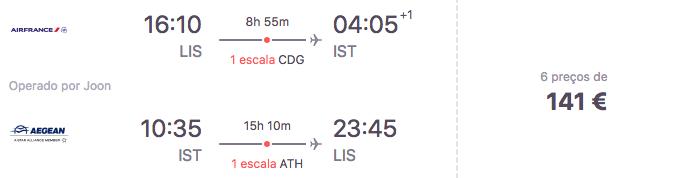Voos para a Istambul