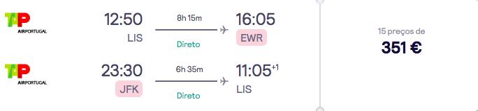 voo lisboa-nova iorque 351 euros