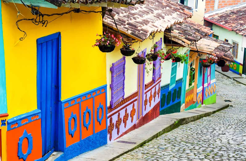 Casas tradicionais em Bogotá