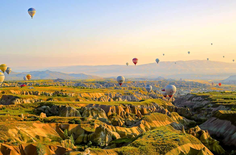 Balão de ar quente, na Cappadocia