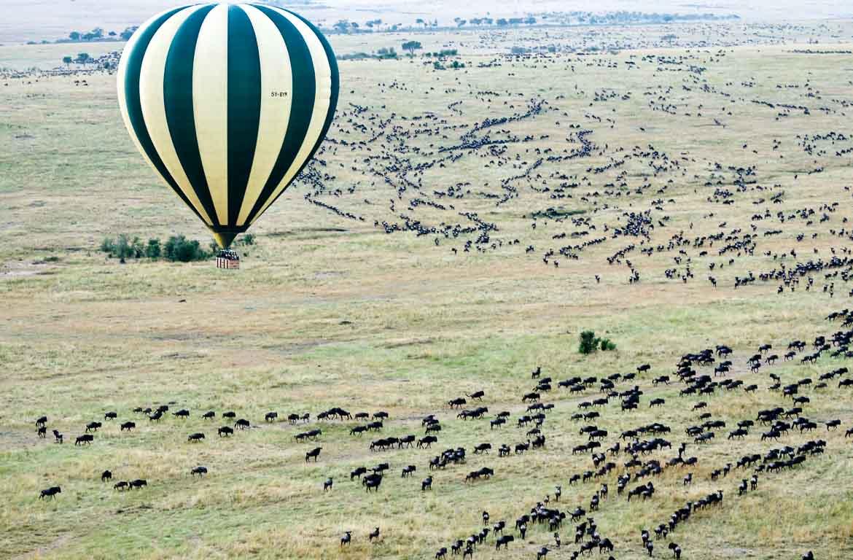 Balão de Ar quente no Serengeti