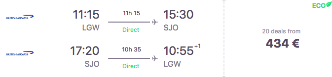 voos-costa-rica