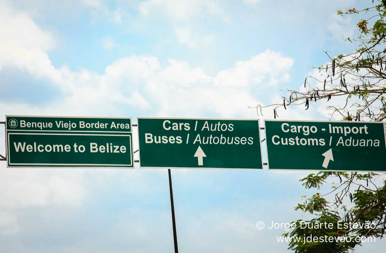 Fronteira entre a Guatemala e o Belize
