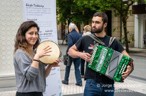Músicos em San Sebastián