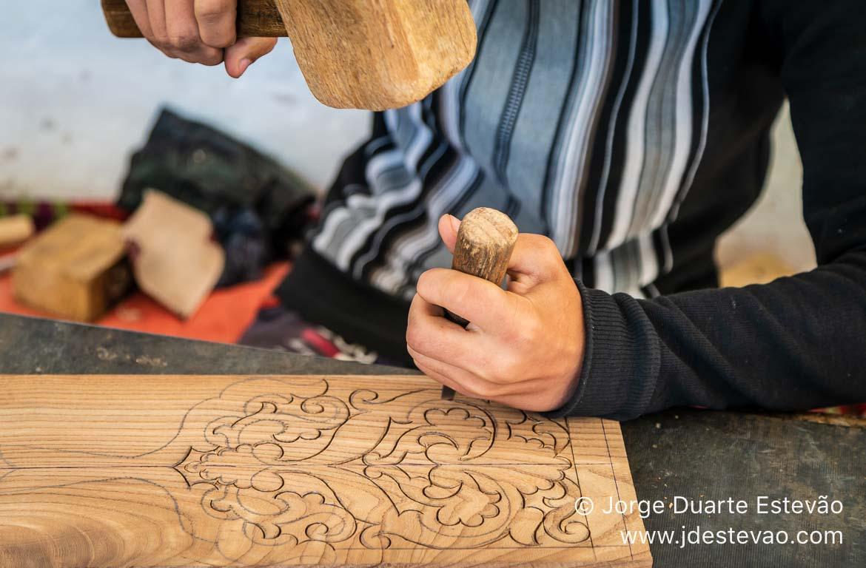 Atelier carpintaria, Khiva, Uzbequistão