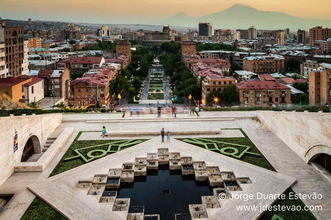 Complexo Cascade em Yerevan, Arménia