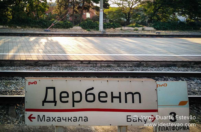 Estação de comboios de Derbent, República do Daguestão, Rús