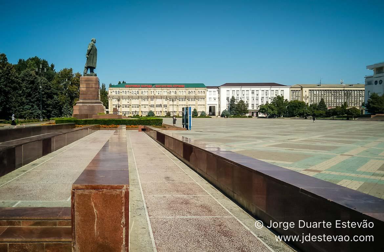Praça Lenine em Makhachkala, Daguestão, Rússia