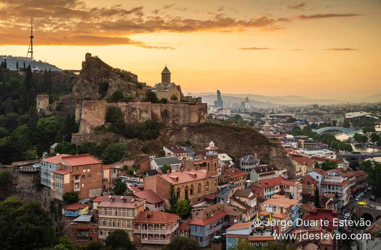 Vista panorâmica de Tbilisi, Geórgia