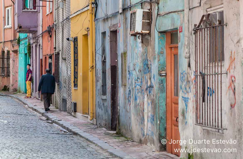 Bairro Judeu, ou Bairro Balat, em Istambul, Turquia