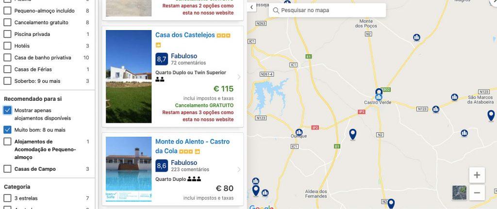 reservar alojamento-mapa