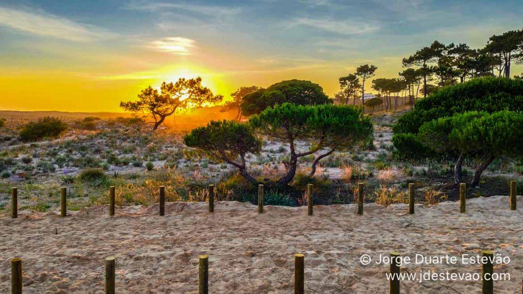 Pôr-do-sol na Praia do Ancão, Loulé