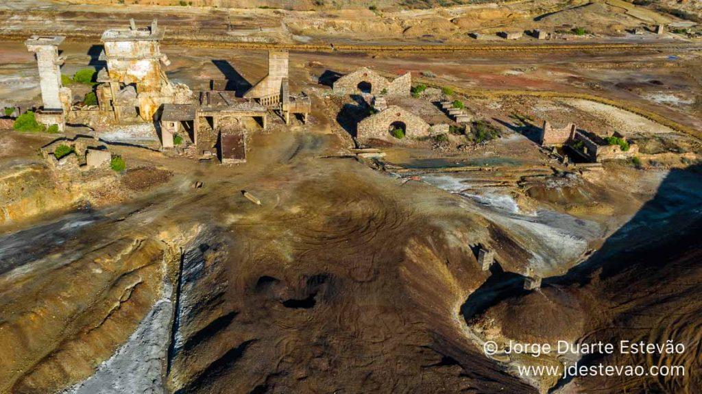 Vista aérea da Achada do Gamo, Mina de São Domingos, Mértola