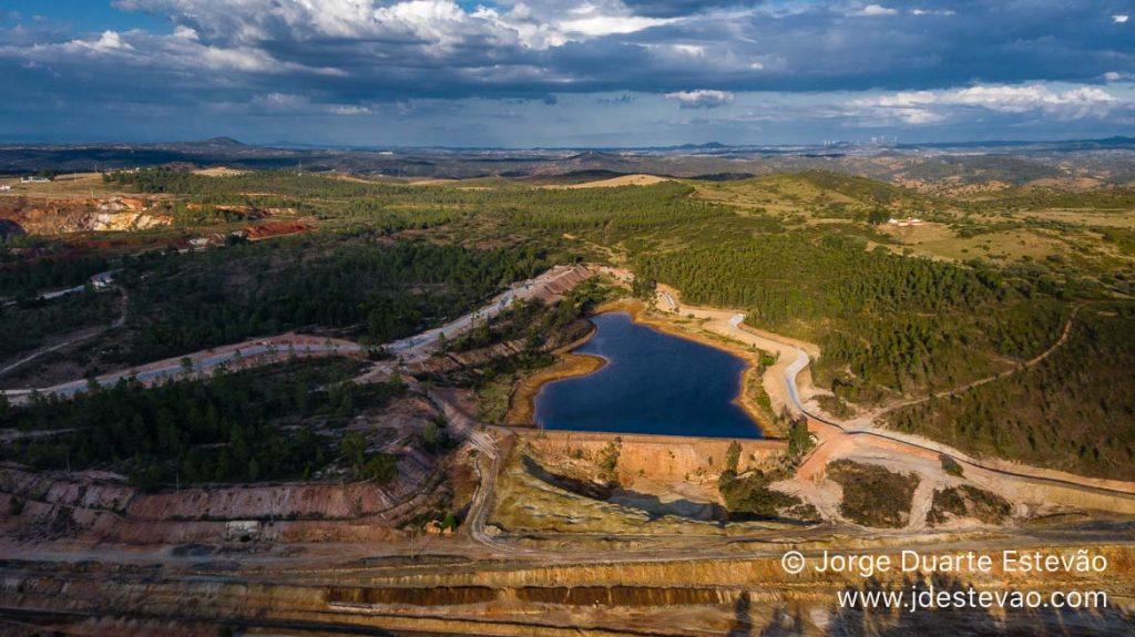 Vista aérea da Mina de São Domingos, Mértola