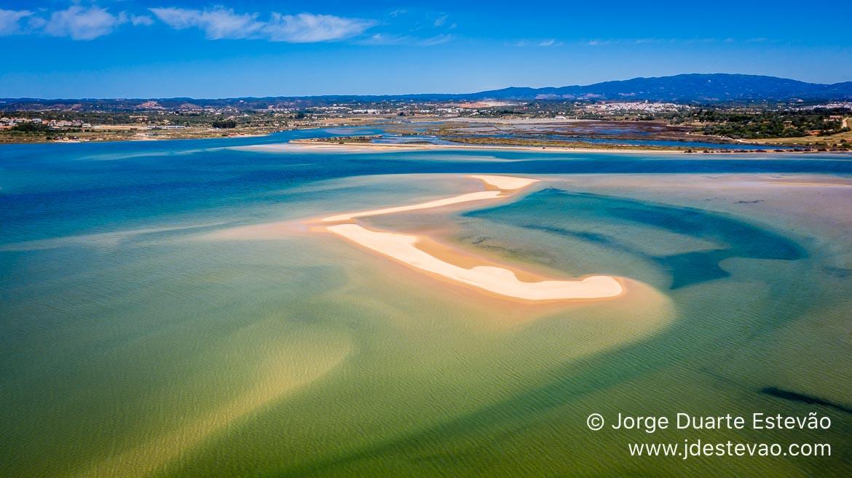 Vista aérea da Ria de Alvor, Portimão