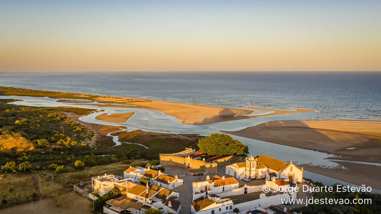 Vista aérea de Cacela Velha, Algarve