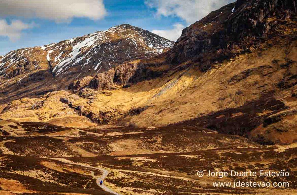 Montanhas, Loch Achtriochtan, Glencoe, Escócia