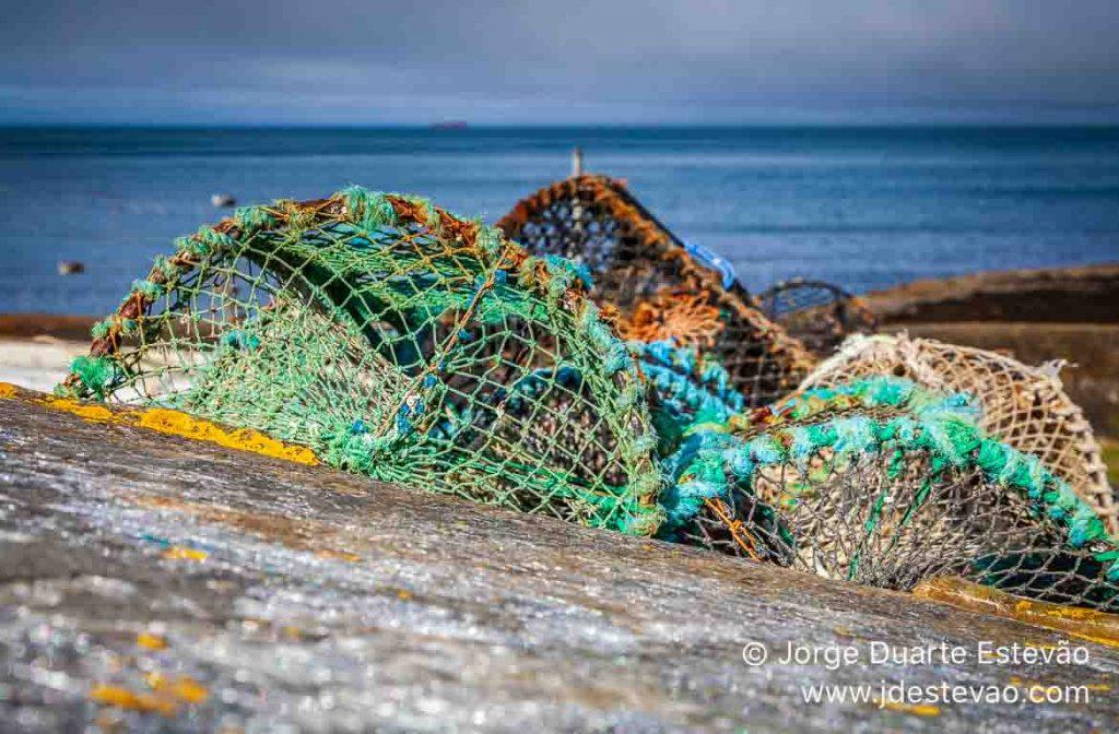 Redes de pesca na Ilha de Skye, Escócia