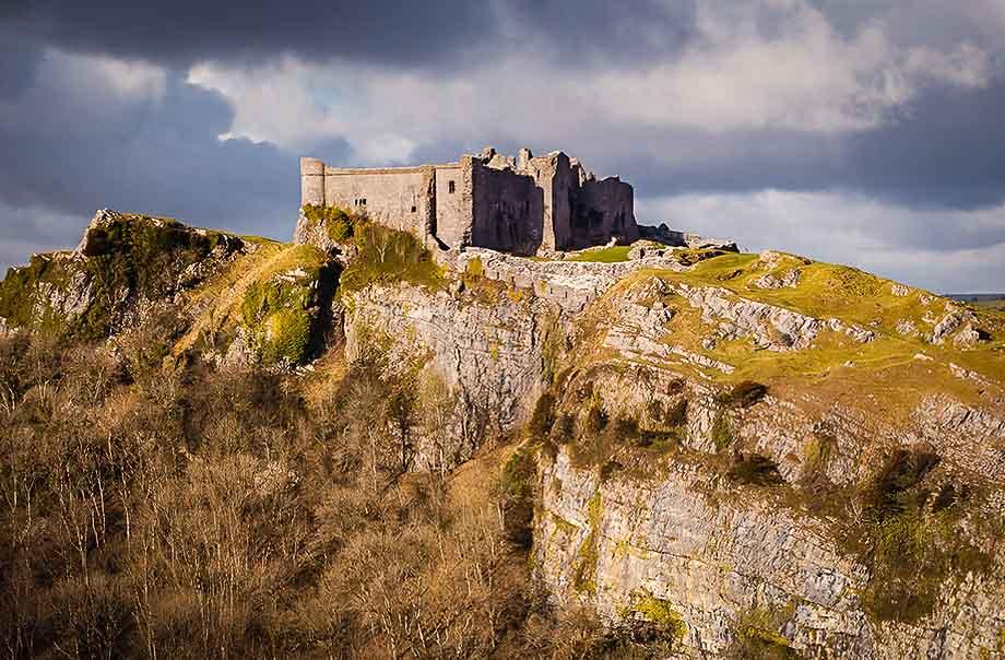Carreg Cennen, Brecon Beacons, Gales