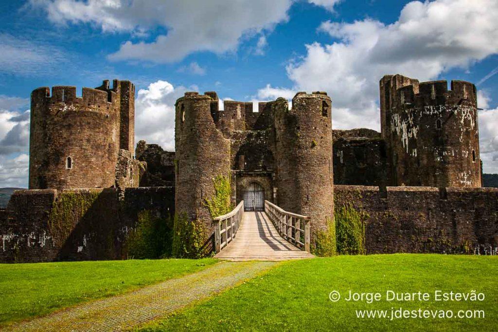 Castelo de Caerphilly, País de Gales