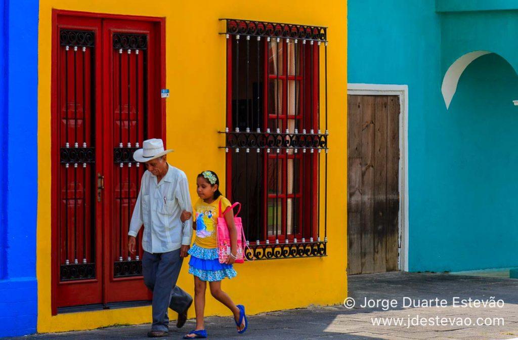 Casas coloridas de Tlacotalpan, México