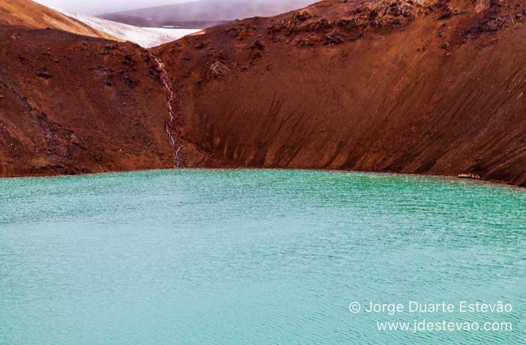 Cratera de Krafla Viti, Islândia