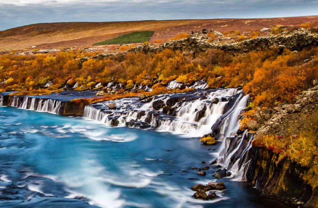 Hraunfossar, Islândia