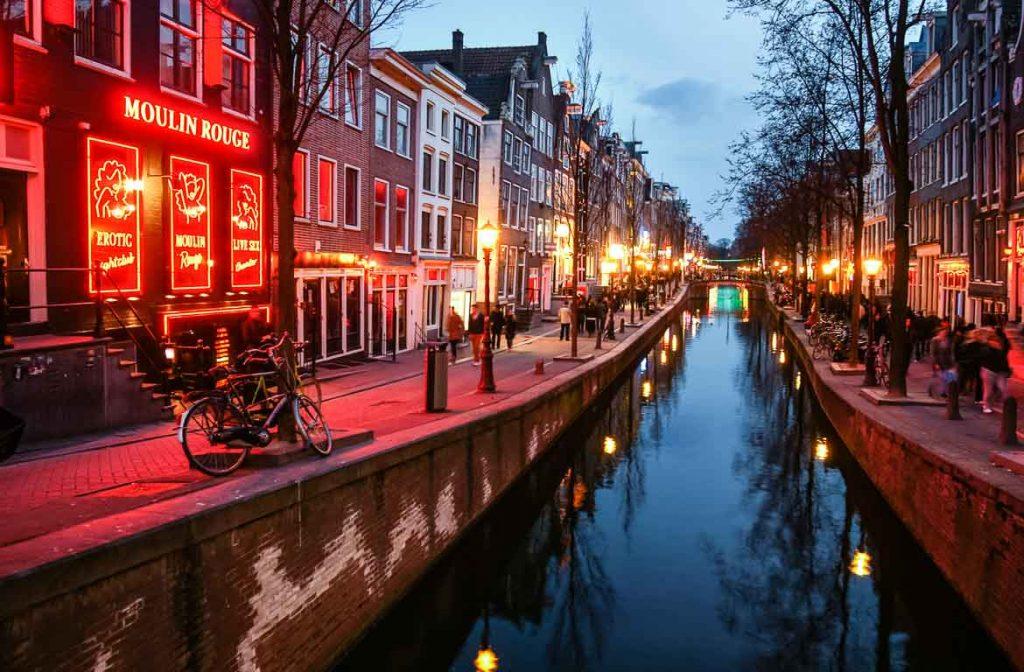 Red Light District em Amesterdão, Holanda
