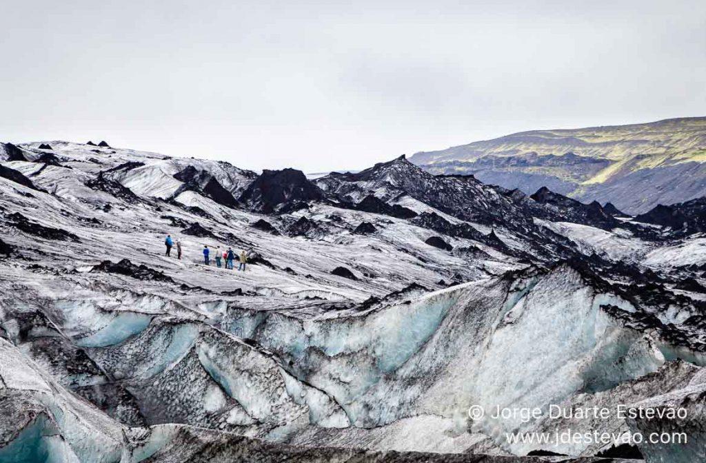 Trekking no Glaciar Myrdalsjokull, Islândia