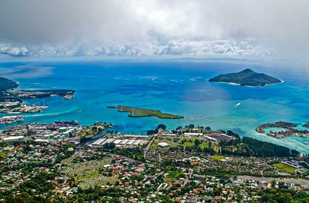 Vista aérea, Victoria, Seychelles, África