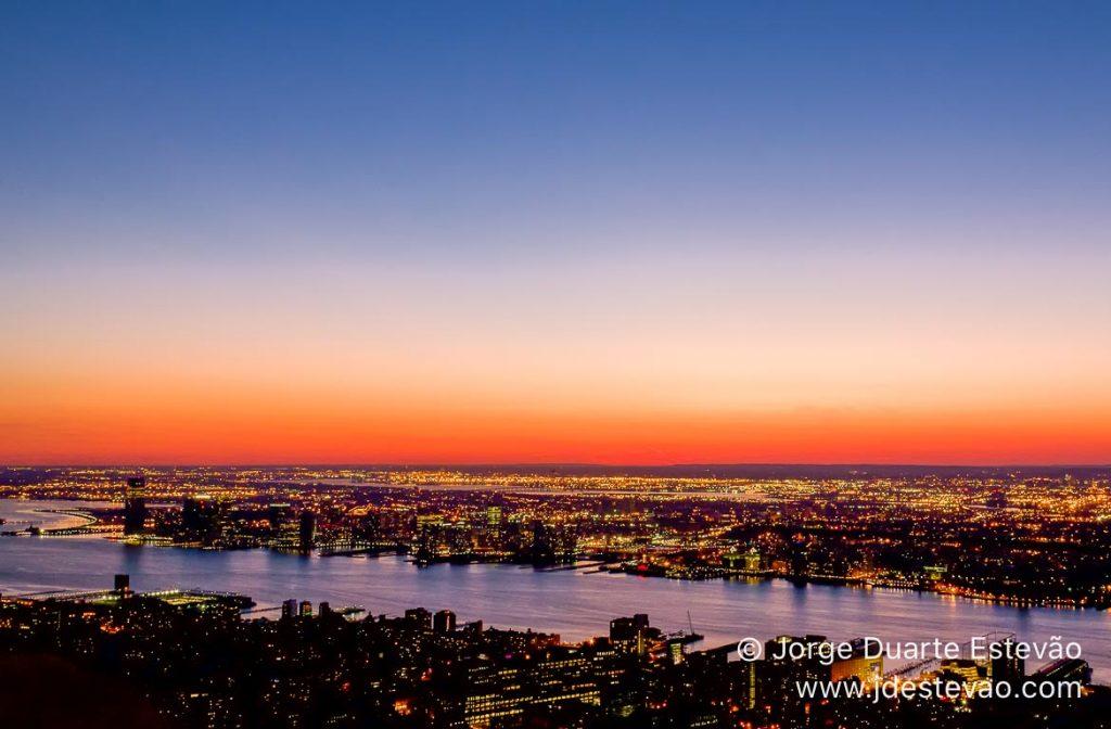 Vista aérea de Nova Iorque, Empire State Building, EUA